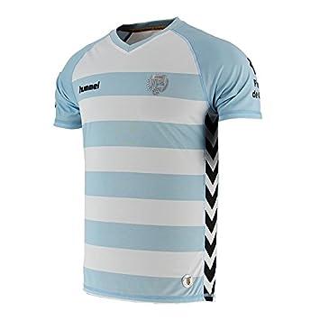 Hummel 2ªequipación Unió Esportiva Llagostera 2015-2016 Camiseta de fútbol, Hombre, Blanco/Azul, M: Amazon.es: Deportes y aire libre