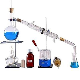 Set Di Vetreria Da Laboratorio Per Distillazione E Depurazione Di