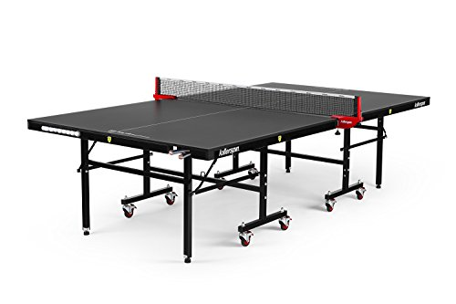Killerpin MyT5BlackPocket Table Tennis Table - Premium Pocket Designed Ping Pong Table with Thick Durable Frame and Table Top That Stands Up To Hard Use (System Fold)