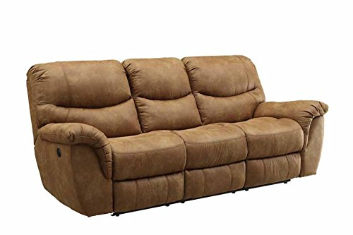 Coaster Home Furnishings 601761P Hancox Motion Collection Power Sofa, Light Brown