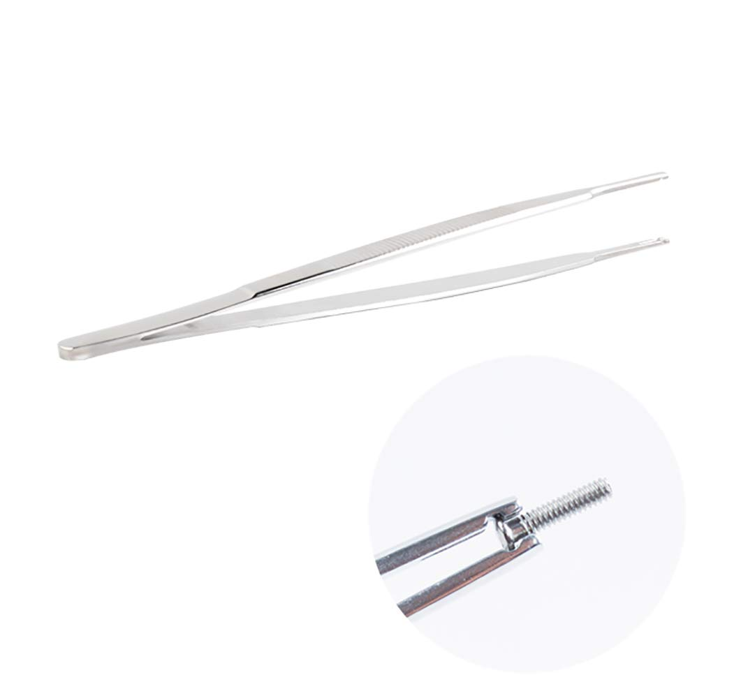Huanyu Steel Tweezers with Groove Glass Tool Screw Nipper Special Screw Clamp The Best Precision High Efficiency