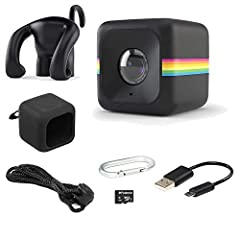Huge, out-of-the-box fun. In little more than 1 cubic inch. Standing at just 35mm, the Polaroid CUBE is here to prove that the best things do indeed come in small packages. This tiny action camera supports Micro SD cards up to 32GB, a...