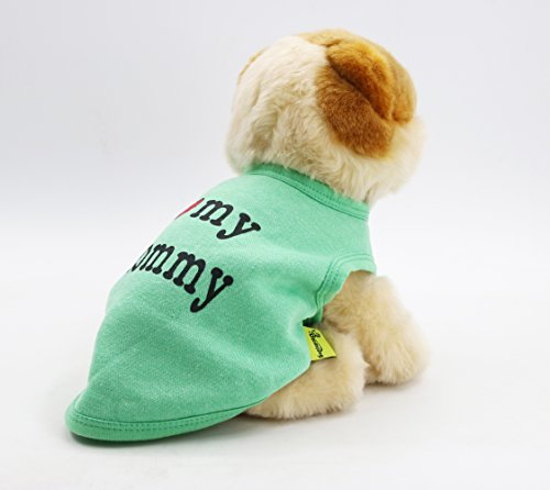 [DroolingDog Pet Clothes I LOVE MY MOMMY Dog T-Shirt Soft Fleece Cotton Vest for Small Dogs, S,] (But Mommy Costumes)