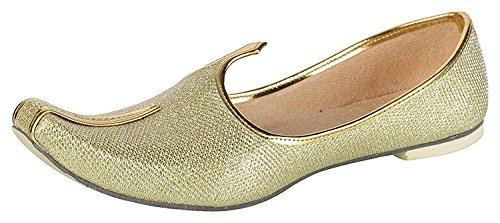 BombayFlow Men's Punjabi Jutti Khussa Majori Indian Dress Wedding Shoes ROY (8 D(M) US) by BombayFlow