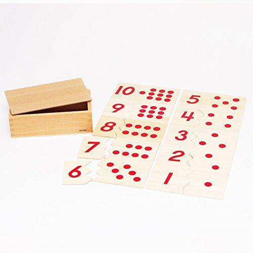 【MONTE Kids】モンテッソーリ教具 -- 数合わせパズル -- Montessori 知育玩具教具 幼児早期教育 モンテキッズ 本格教材 算数 おもちゃ -- 数合わせパズル --