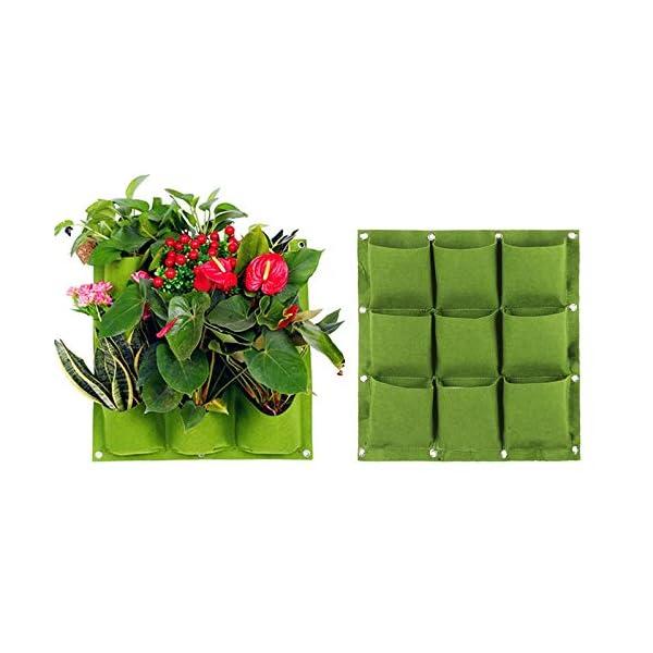 Starry sky Wall Hanging Piantare Borse 18/36/49/72 Tasche Green Grow Bag Planter Verticale Orto Living Garden Bag Fiori… 3 spesavip