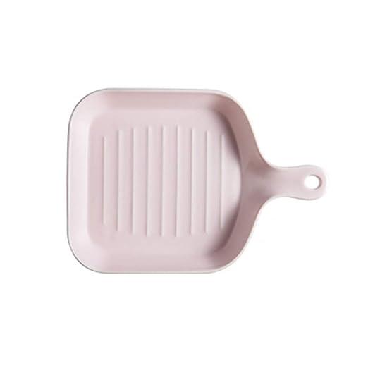 G.YO Bandeja cuadrada de cerámica para hornear con una sola manija ...
