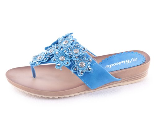 Mixmatch24 - Sandalias de vestir para mujer azul - azul