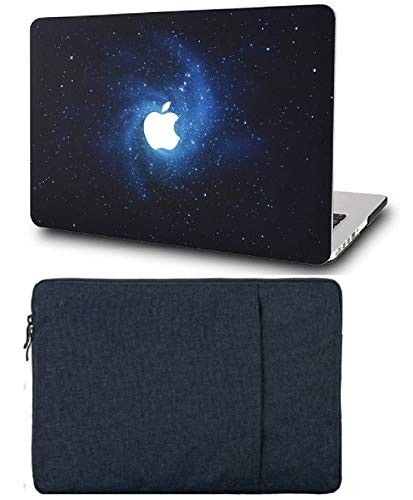 """KECC Laptop Case for MacBook Air 13"""" with Sleeve Plastic Hard Shell Case A1466/A1369 2 in 1 Bundle (Blue)"""