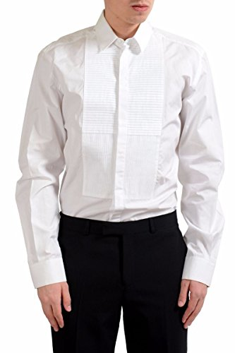 Dolce & Gabbana Martini Men's Tuxedo Long Sleeve Dress Shirt US 16 IT 41