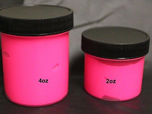Pink UV Neon Fluorescent Washable Finger Paint 2oz Pot -