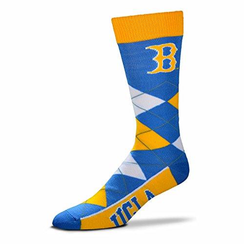 NCAA UCLA Bruins Argyle Unisex Crew Cut Socks - One Size Fits Most - Ucla Socks Men