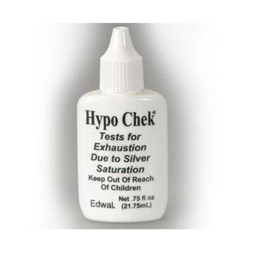 Edwal Hypo-Check, Chemical Test for Exhausted Film & Paper Fixers, 3/4 Oz.