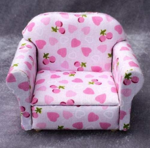 1:12 Dollhouse Miniature Furniture Living Room Furniture Armchair With Cherry вњї (Florence Wall Estate)