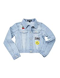 Chilipop Denim Jacket for Little & Big Girls with Patches
