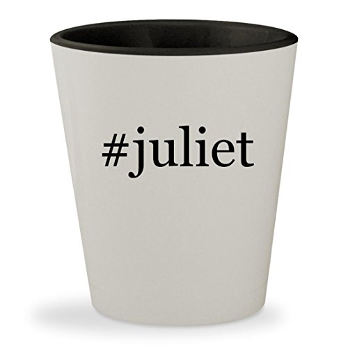 #juliet - Hashtag White Outer & Black Inner Ceramic 1.5oz Shot Glass