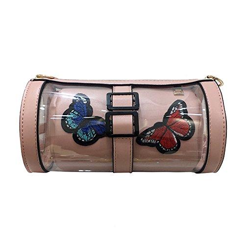 Designer les Bag Personnalité Sac Bandoulière paquet à Pink fourre femmes Satchel main Cylindre tout pour Drôle sacs Messenger frfqC4KBw