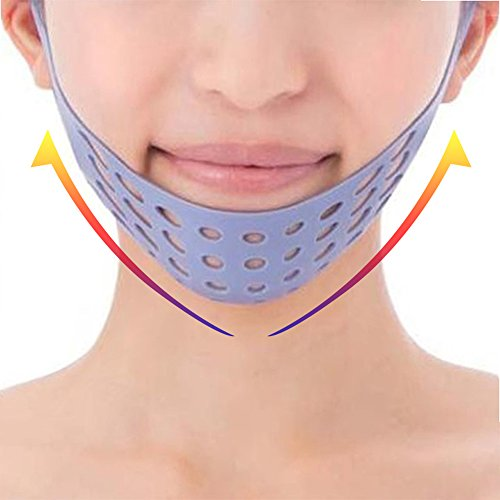 Face Slimming Bandage, Enshey Silicone V Shape Face Line Mask Belt Facial Relax Massage Lift-up Anti-wrinkle Bandage