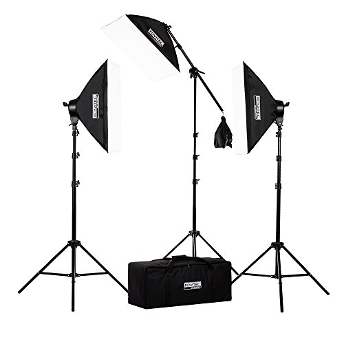 Fovitec StudioPRO - 3x 20 x28  Softbox Lighting Kit w/ 2500 W Total Output - [Classic][Includes Boom Stands Softboxes Socket Heads 11x 45W Bulbs]  sc 1 st  Amazon.com & 3 Point Lighting: Amazon.com azcodes.com