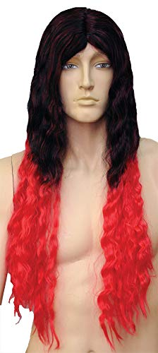 Adult Rock Out in The 80's Long Oz Man Wig Halloween Costume Accessory