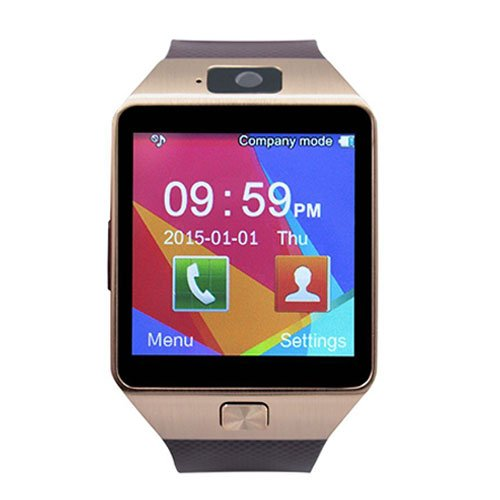Smart Watch for Android Phones, SHONCO Bluetooth Smartwatch DZ09 Mobile Phone Watch with Pedometer HD Display Touch Screen Camera Long Battery Life - Bronze