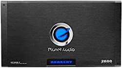 Planet Audio Ac2600.2 Anarchy 2600 Watt, 2 Channel, 24 Ohm Stable Class Ab, Full Range, Bridgeable, Mosfet Car Amplifier With Remote Subwoofer Control