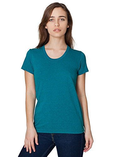 American Apparel Tri-Blend Short Sleeve Women's Track T - Tri-Evergreen - - Cut T-shirt Womens American