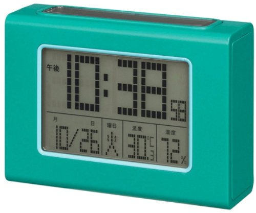 Smartek ( Sumatekku ) solar radio alarm clock digital display mat Green ML-469-YGR by SMARTEK ( Sumatekku )