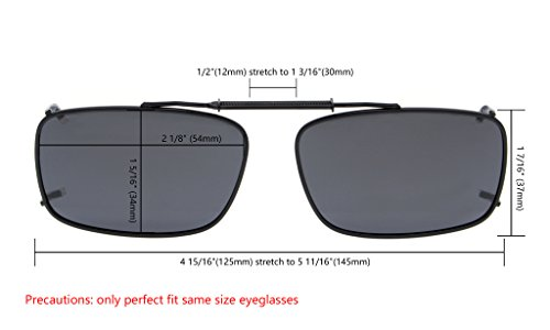 Eyekepper Rim 54 34MM Lens Clip Polarized Gris En Gafas Metal De Sol Frame rfUxqwrE