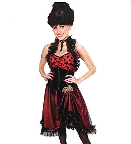 Rouge Dancer Adult Saloon Girl Costume (Medium (10/12)) (Can Can Saloon Girl Costume)