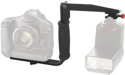 Pro Series 180° Quick Flip Rotating Flash Bracket For Fuji, Samsung, Leica, Panasonic, Kodak & More Cameras & Camcorders