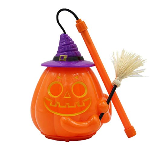 Iusun Halloween Pumpkin Lantern, Halloween Decoration Props Ghosts Called Horror Hand Pumpkin Light (B) -