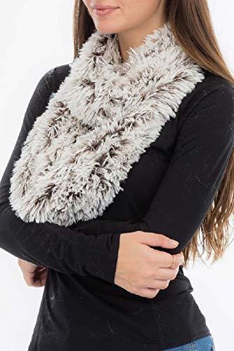 Secrets Women`s Faux Fur Two Tone Chunky Infinity Loop Neck Warmer Scarf Wrap