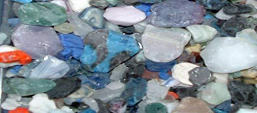 1/4 LB Marble Rock Color Mix Seaglass Beach SEA Glass Seashell JEWLERY Weddings #LK-723