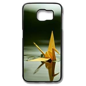 Samsung Galaxy S6 Case - Paper Cranes In The Water Protective Case Soft Flexible TPU Skin Scratch-Proof Case for Samsung Galaxy S6 Black