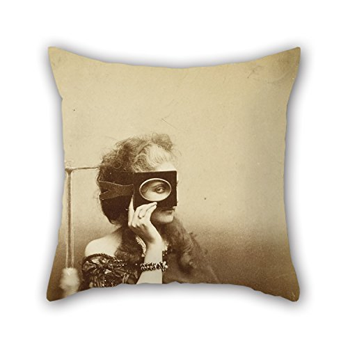 beeyoo Oil Painting Virginia Verasis Countess of Castiglione - Scherzo Di Follia Throw Pillow Covers 18 X 18 inches / 45 by 45 cm for Divan Seat Home Shop Home Office Home Theater with 2 Sides -