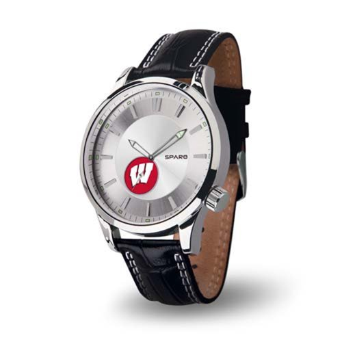Wisconsin Badgers Black Leather - 8