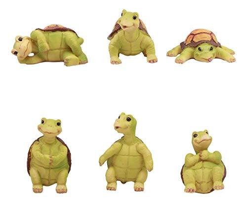 Baby Sea Turtles Figurine Set of 6 Whimsical Turtle Decors 3