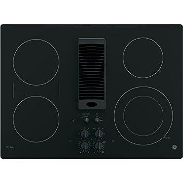 GE PP9830DJBB Profile 30 Black Electric Smoothtop Cooktop Downdraft