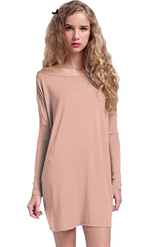 Piko 1988 Women's Famous Long Sleeve Bamboo Top Loose Fit Dolman Style Vintage Blush (Bamboo Vintage Blouse)