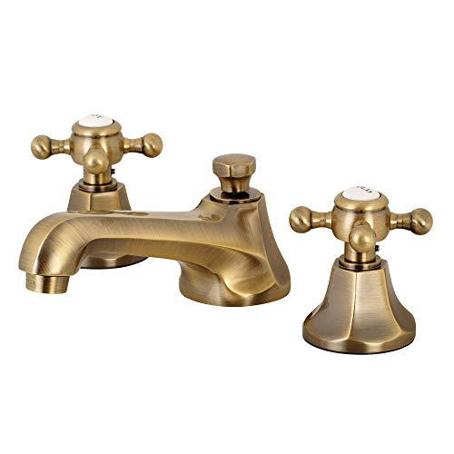 (Kingston Brass KS4463BX Metropolitan Widespread Bathroom Faucet, Antique Brass)