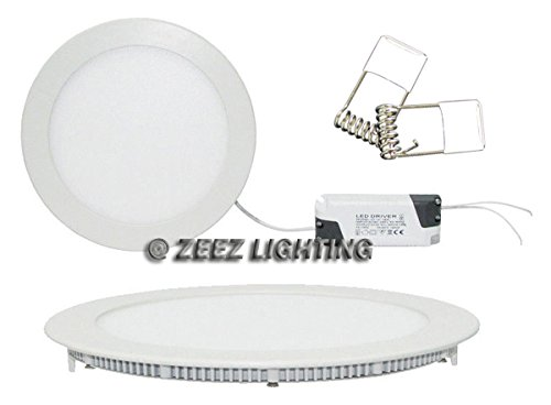 ZEEZ Lighting - 25W 11'' (OD 11.75'' / ID 10.75'') Round Cool White Dimmable LED Recessed Ceiling Panel Down Light Bulb Slim Lamp Fixture - 10 Packs by ZEEZ (Image #3)