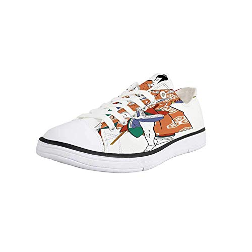 GULTMEE Canvas Sneaker Low Top Shoes,Kabuki Mask Decoration,Kabuki for sale  Delivered anywhere in Canada