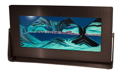 Exotic Sands - Md31 The Most Amazing Handmade Gift Lifestyle Washington Post - Sand Picture - Medium Black Metal Frame (Ocean Blue) Choose from Several Sand Color Combinations.