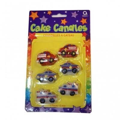 RESCUE TEAM MINI HAPPY BIRTHDAY CAKE CANDLES