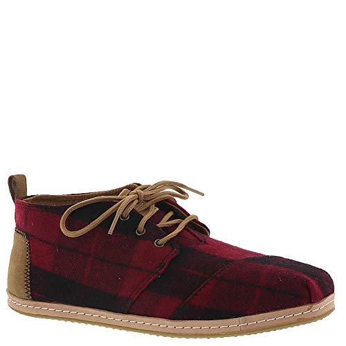 (TOMS Women's Bota Boots Red Plaid Felt 8)