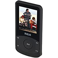 RCA M6504 4 GB Video MP3 Player with 1.8 inch Color Display, Earbuds, Built-In Rechargeable Battery, FM Radio, Voice Recorder, Includes USB Cable (Black)