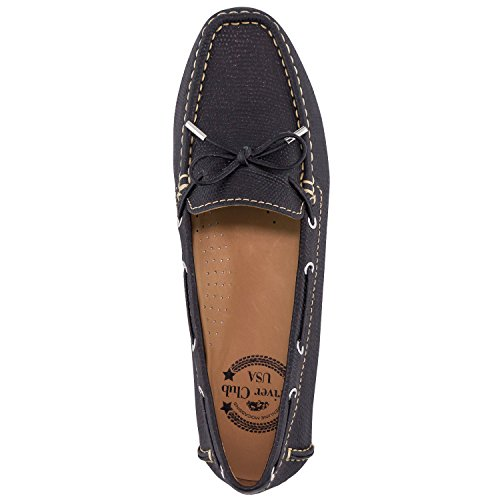 Loafer Driver Tie Club Lizard Glitter Driving Nantucket USA Women's Style Bow Leather Black XwzAwqr