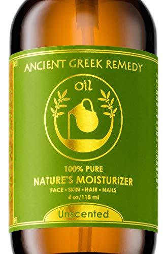 Unscented Organic Blend of Almond, Jojoba, Grapeseed, Olive and Sunflower oils with Vitamin E. Daily Moisturizer for dry Face, skin, Hair, Cuticle, Scalp, Cold Pressed, Full Body oil for Men and Women