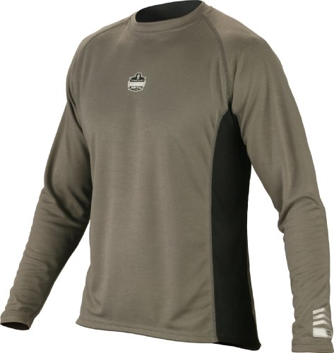 mance Work Wear Long Sleeve Shirt, Gray, Medium (Ergodyne Core)